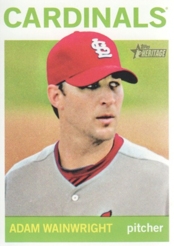 Photo of 2013 Topps Heritage #59 Adam Wainwright