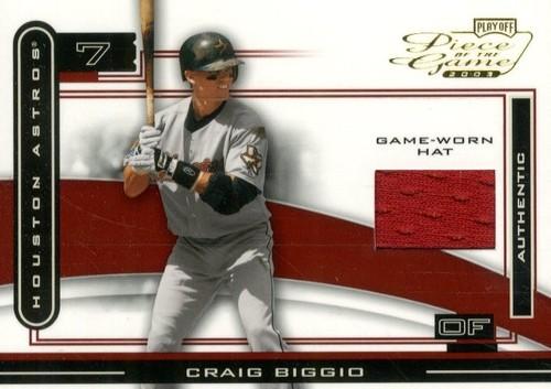 Photo of 2003 Playoff Piece of the Game #26C Craig Biggio Hat/50