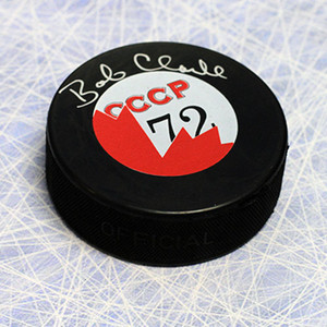 Bobby Clarke 1972 Summit Series Autographed Canada/CCCP Puck