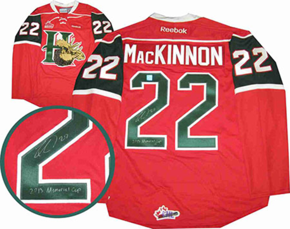 Nathan MacKinnon Signed Halifax Mooseheads 2013 Memorial Cup Jersey