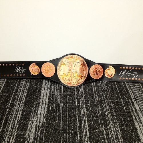 New Age Outlaws SIGNED WWE Tag Team Championship Replica Title