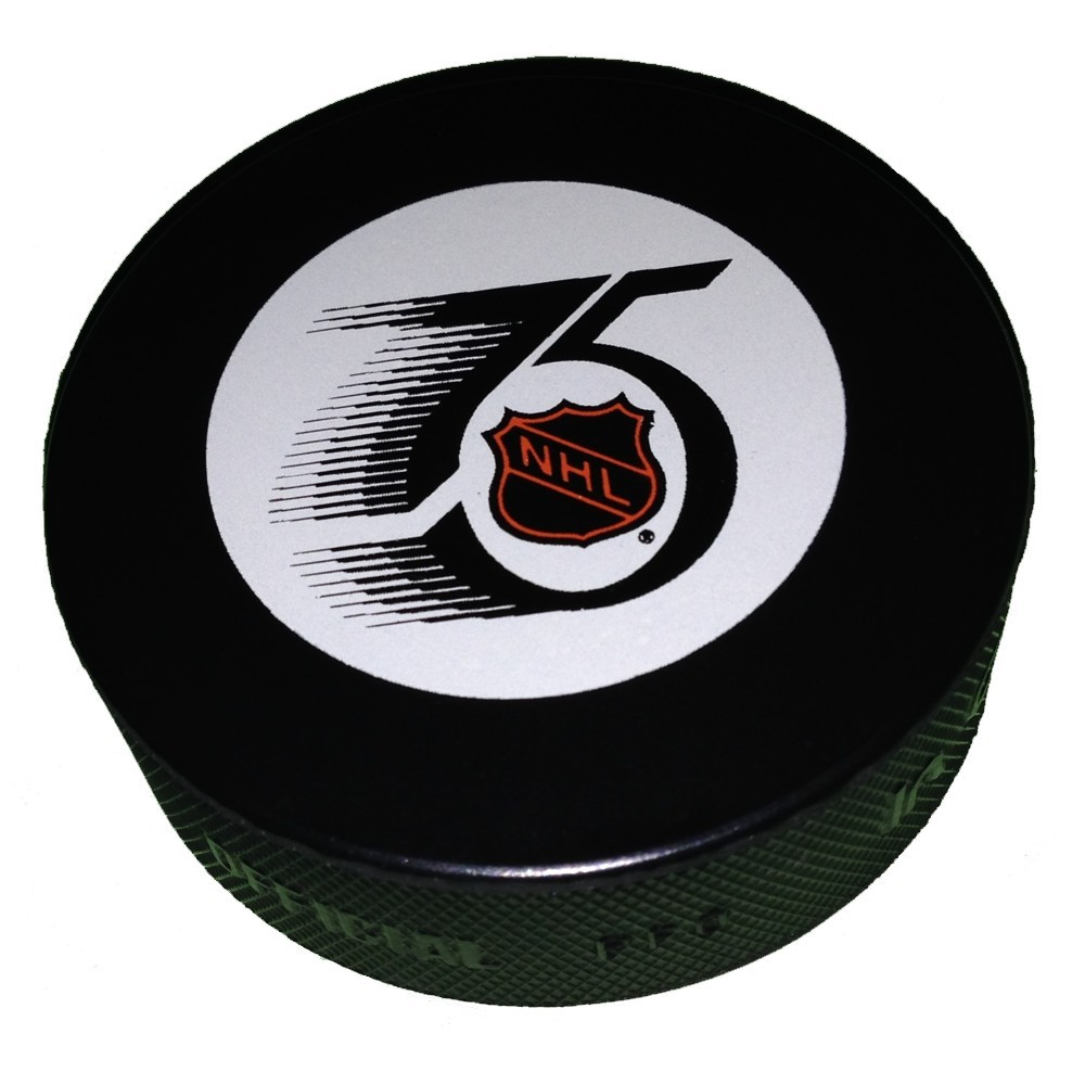 1991-1992 NHL 75th Anniversary Game Puck (NOT AUTOGRAPHED)