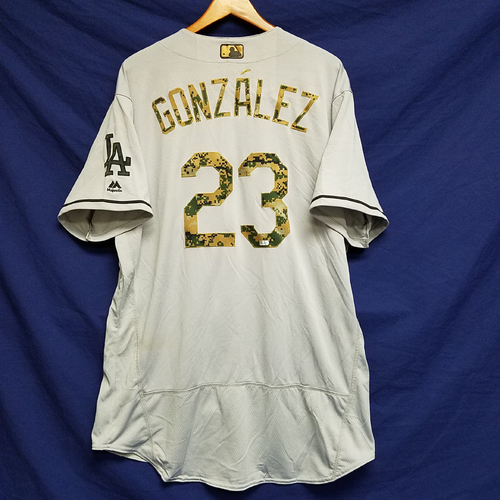Photo of Adrian Gonzalez 2016 Game-Used Road Memorial Day Jersey