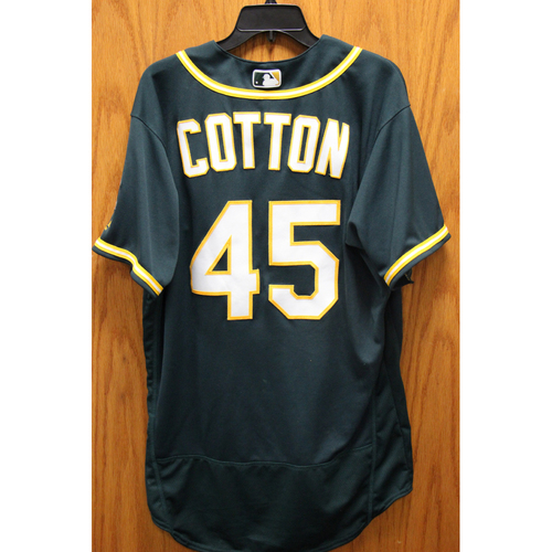 Photo of Jharel Cotton Game-Used Jersey - Win #2