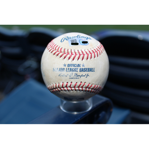 Photo of Game-Used Baseball: George Springer Double (HOU @ KC 6/7/17)