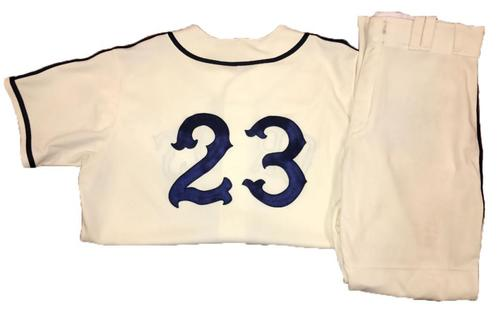 Photo of David Freese Game-Used Homestead Greys Jersey and Pants