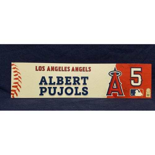 Albert Pujols Game-Used Locker Tag from Players Weekend