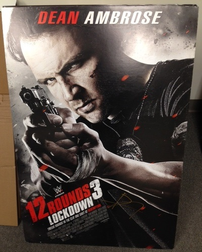 "Photo of Dean Ambrose SIGNED Foam ""12 Rounds 3: Lockdown"" Poster"