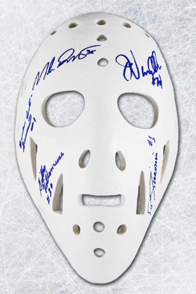 New York Rangers Autographed by 6 Goalies Full Size Replica Mask