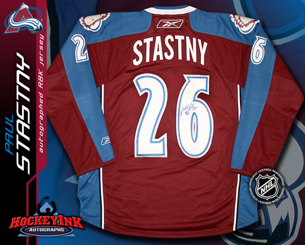 PAUL STASTNY Signed RBK Premier Colorado Avalanche Burgundy Jersey