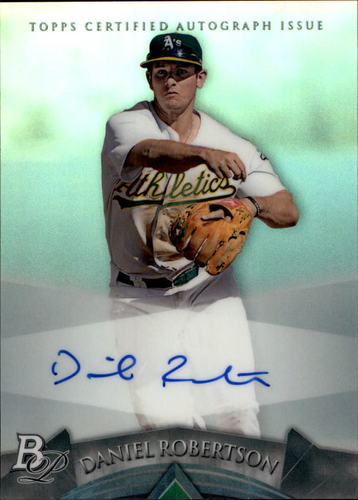 Photo of 2014 Bowman Platinum Prospect Autographs #APDR Daniel Robertson