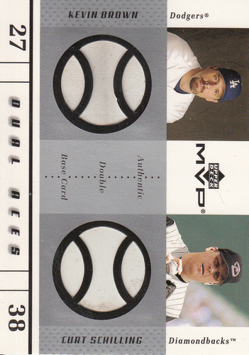 Photo of 2003 Upper Deck MVP Dual Aces Game Base #BS Kevin Brown/Curt Schilling Used Base