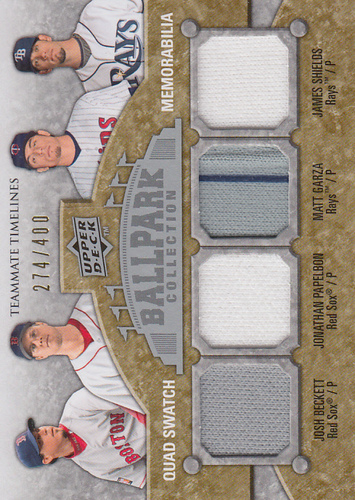 Photo of 2009 Upper Deck Ballpark Collection #283 Josh Beckett/Jonathan Papelbon/Matt Garza/James Shields/400
