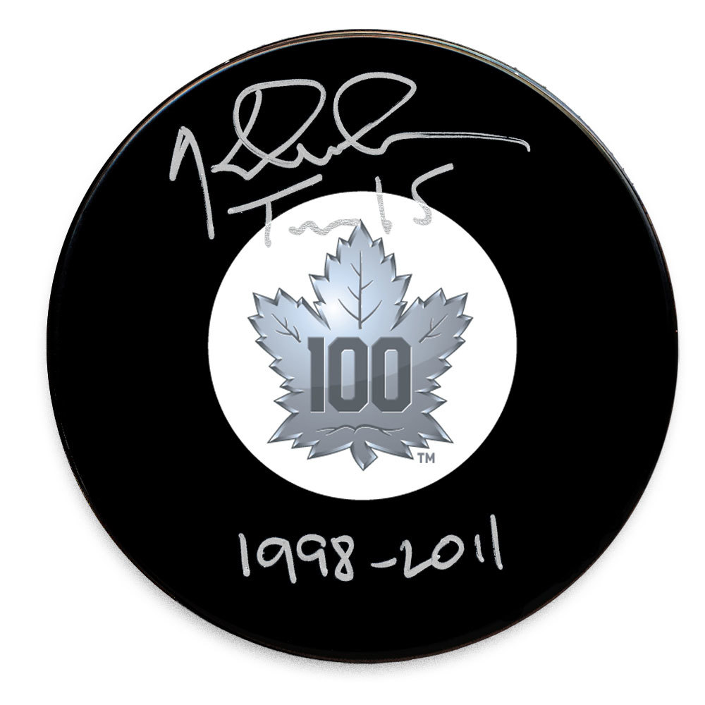 Tomas Kaberle Toronto Maple Leafs 100th Anniversary Autographed Puck