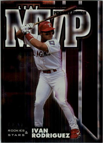 Photo of 1998 Leaf Rookies and Stars Leaf MVP's Pennant Edition #5 Ivan Rodriguez