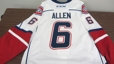 AHL WHITE GAME ISSUED BRYAN ALLEN JERSEY SIGNED (2 OF 2)