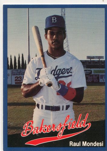 Photo of 1991 Bakersfield Dodgers Cal League #1 Raul Mondesi