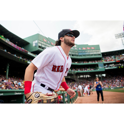Photo of Red Sox Foundation 15th Anniversary - Andrew Benintendi Game-Used and Autographed Jersey