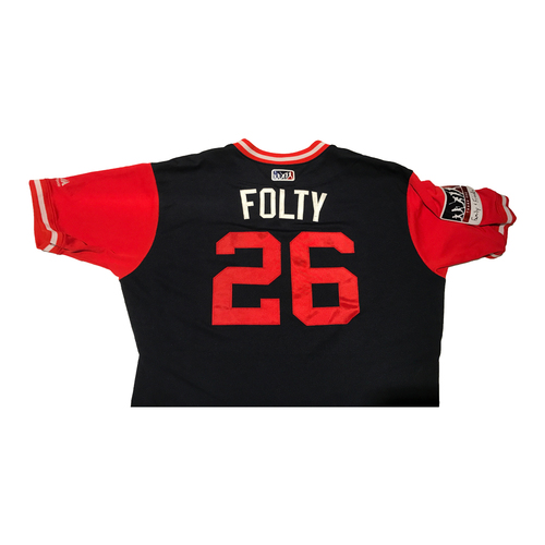 """Photo of Michael """"Folty"""" Foltynewicz Atlanta Braves Game-Used Players Weekend Jersey"""