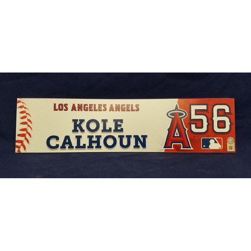 Photo of Kole Calhoun Game-Used Locker Tag from Players Weekend