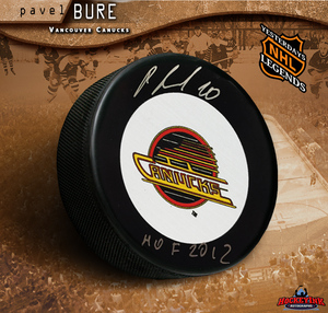 PAVEL BURE Signed Vancouver Canucks Puck with
