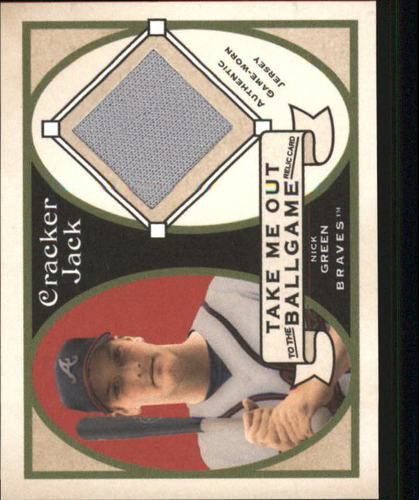 Photo of 2005 Topps Cracker Jack Take Me Out to the Ballgame Mini Relics #NG Nick Green Jsy