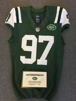 New York Jets - 2015 #97 Calvin Pace Game Worn Jersey