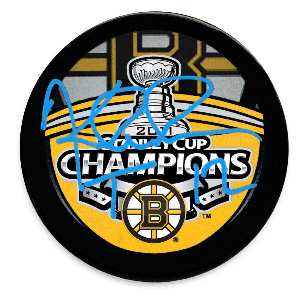 Tomas Kaberle Boston Bruins 2011 Stanley Cup Champions Autographed Puck