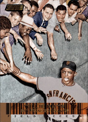 Photo of 2014 Stadium Club Field Access Gold #FA5 Willie Mays