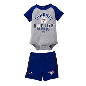 Toronto Blue Jays Newborn/Infant Fan Favourite Onesie Short Set by Majestic