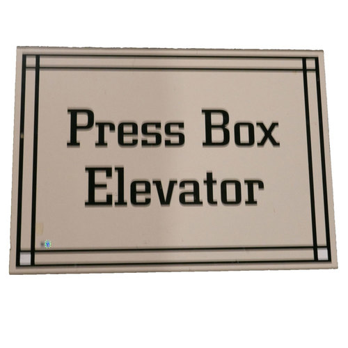 "Photo of San Francisco Giants - AT&T Park Sign - ""Pressbox Elevator"""