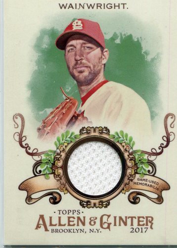 Photo of 2017 Topps Allen and Ginter Relics #FSRBAW Adam Wainwright B