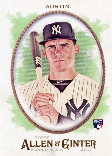 Photo of 2017 Topps Allen and Ginter #88 Tyler Austin Rookie Card -- Yankees post-season