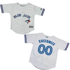 Toronto Blue Jays Toddler Customizable Cool Base Replica Home Jersey by Majestic