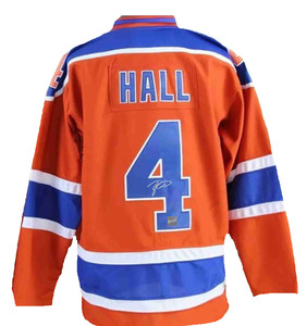 Taylor Hall - Signed Edmonton Oilers Orange Replica 3rd Jersey