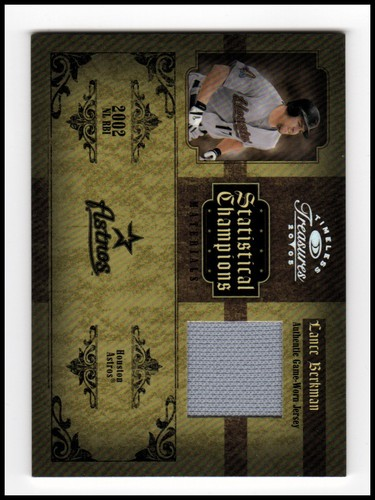 Photo of 2005 Timeless Treasures Statistical Champions Materials Year #30 Lance Berkman Jsy/100