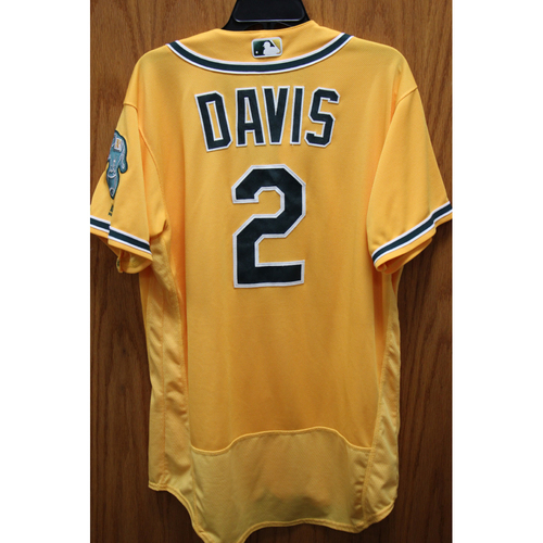Photo of Khris Davis Game-Used 2016 Jersey - Home Run #28