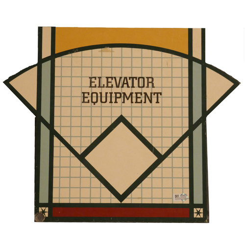 "Photo of San Francisco Giants - AT&T Park Sign - ""Elevator Equipment"""