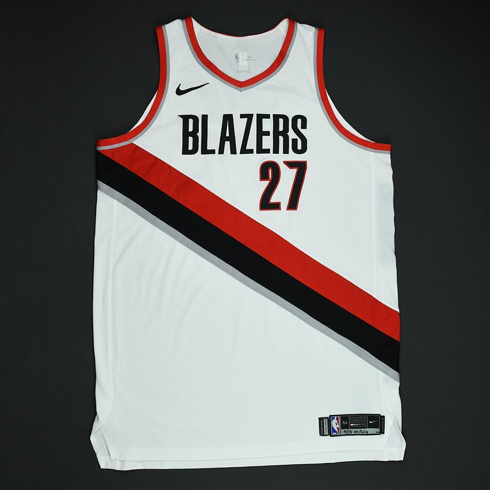 Jusuf Nurkic - Portland Trail Blazers - 2018 NBA Playoffs Game-Worn 2nd Half Only Jersey