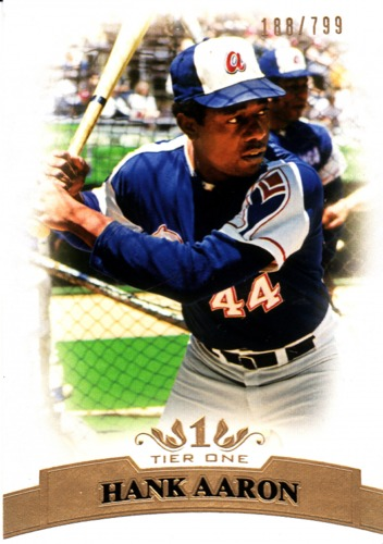 Photo of 2011 Topps Tier One #44 Hank Aaron