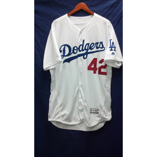 Photo of Corey Seager Game-Used Jersey - 4/15/16