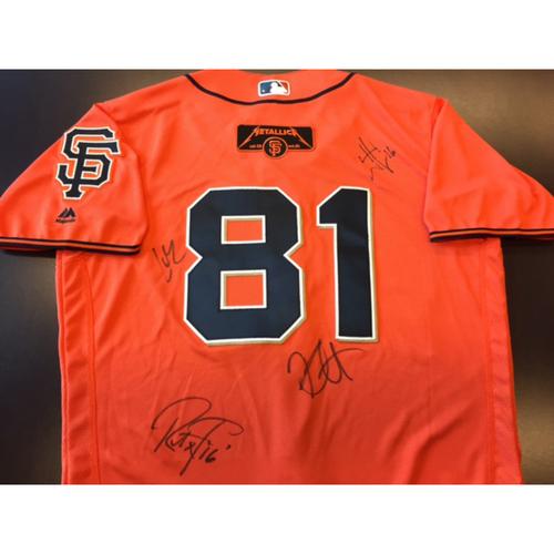Photo of GCF Auction: Metallica Signed Giants Orange Friday Jersey