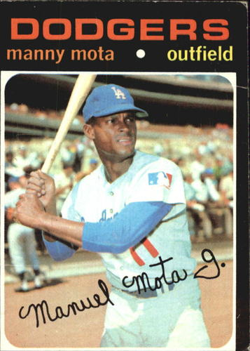 Photo of 1971 Topps #112 Manny Mota