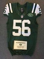 New York Jets - 2015 #56 Demario Davis Game Worn Jersey