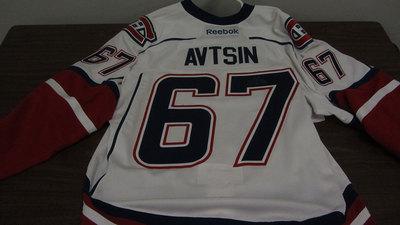 AHL WHITE GAME ISSUED ALEXANDER AVTSIN JERSEY (2 OF 2)