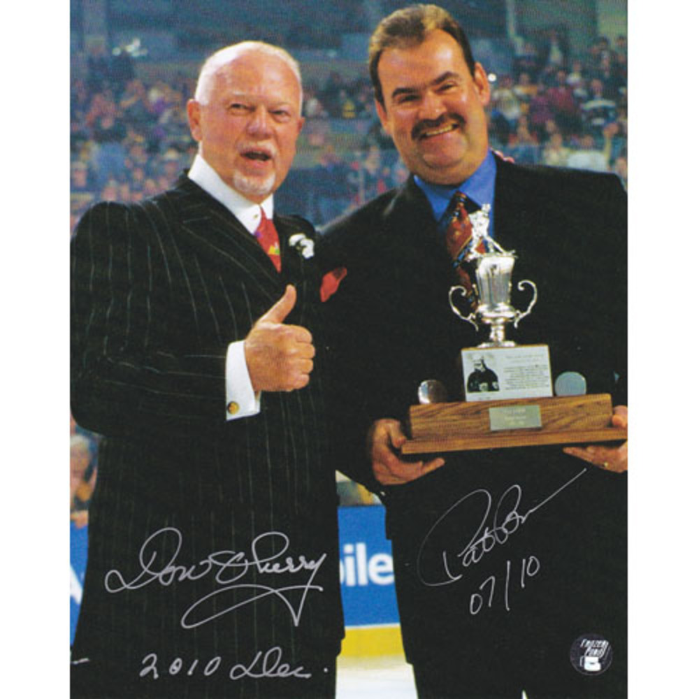 RARE Don Cherry & Pat Burns Dual Signed 8X10 Photo (Toronto Maple Leafs)