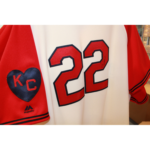 Photo of Don Wakamatsu Autographed Game-Used Kansas City Monarchs Jersey (5/7/2017) (Size 48)