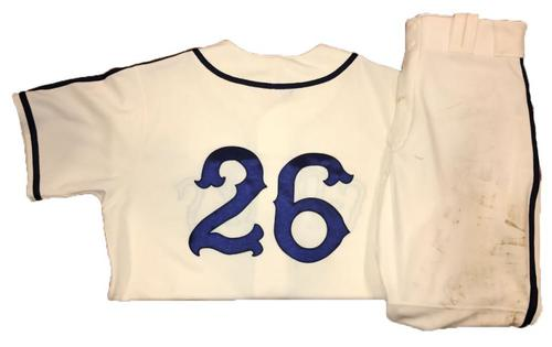 Photo of Adam Frazier Game-Used Homestead Greys Jersey and Pants