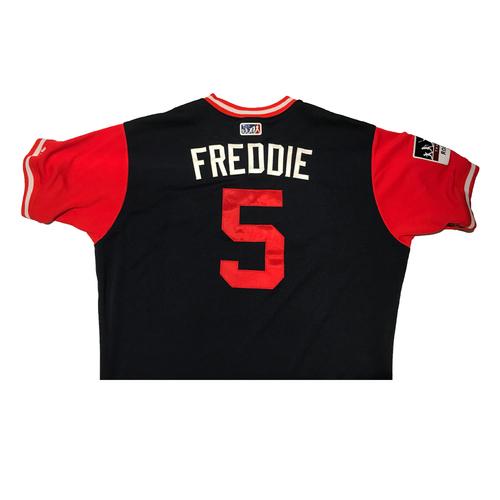 """Photo of Freddie """"Freddie"""" Freeman Atlanta Braves Game-Used Players Weekend Jersey"""