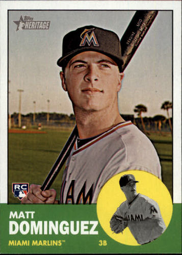 Photo of 2012 Topps Heritage #424 Matt Dominguez